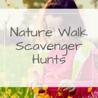 Nature Walk Scavenger Hunt including 6 free printables