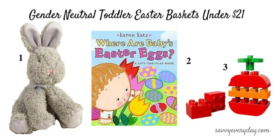 toddler Easter Basket with bunny text