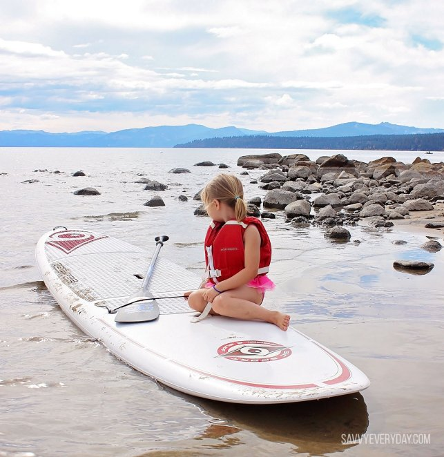 S on paddle board