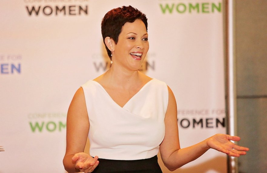 TV personality Ellie Krieger speaks at LeadOn:Watermark's Silicon Valley Conference For Women. Courtesy of Watermark Conference For Women