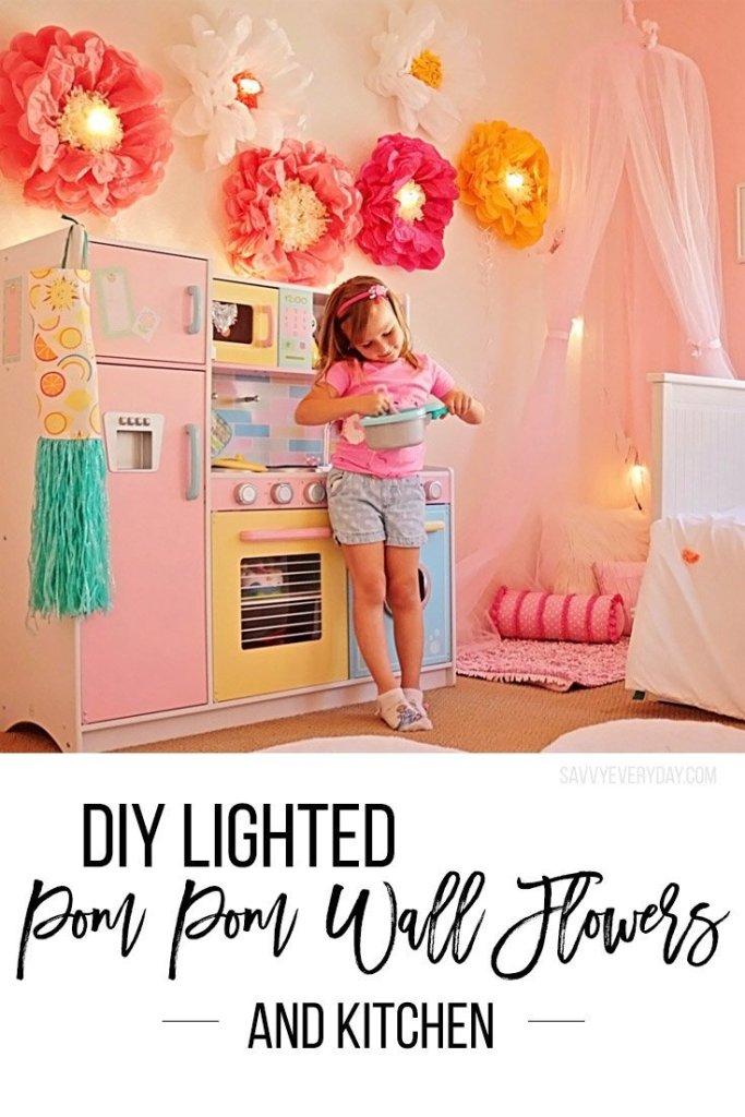 diy lighted pom pom flowersv2