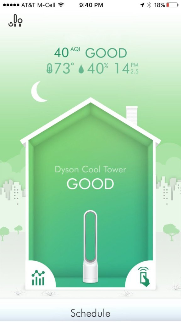 air quality in dyson app