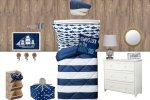 nautical kids room design mockup