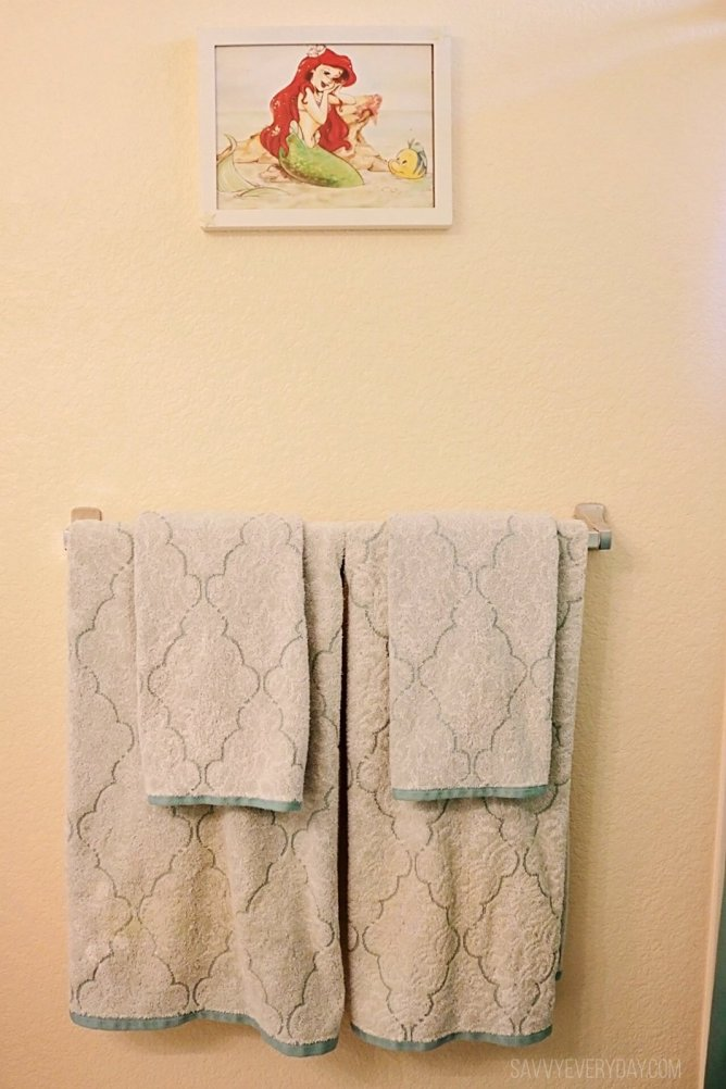 mermaid hand towels