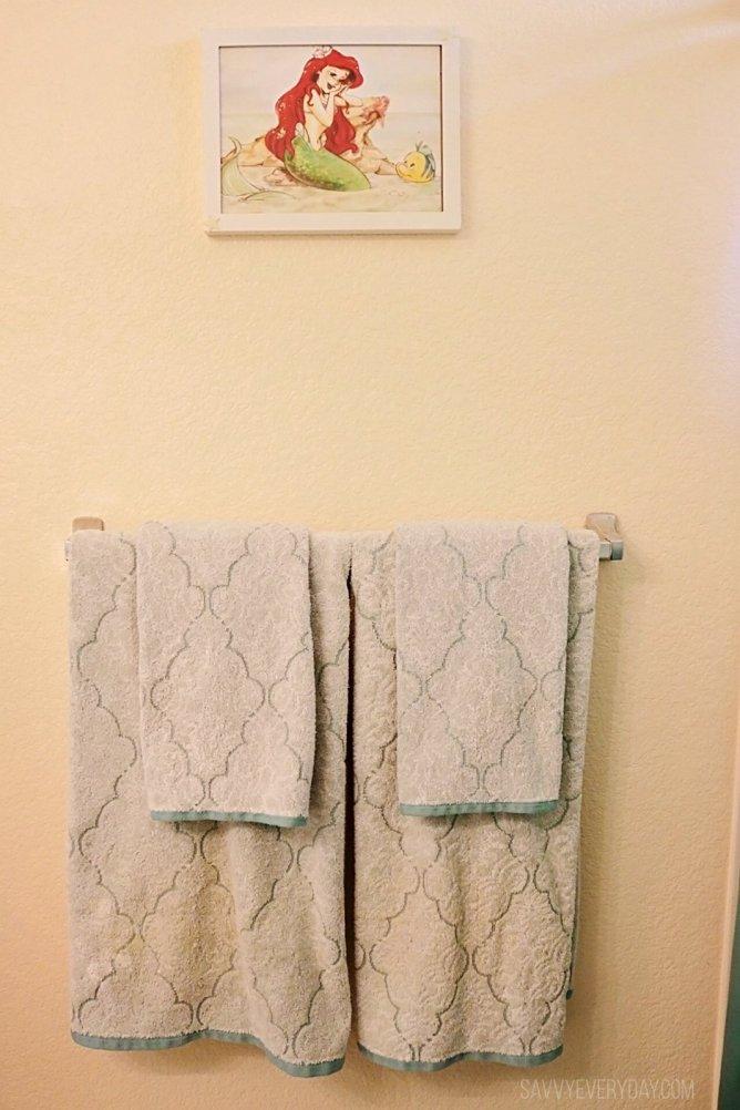 mermaid hand towels