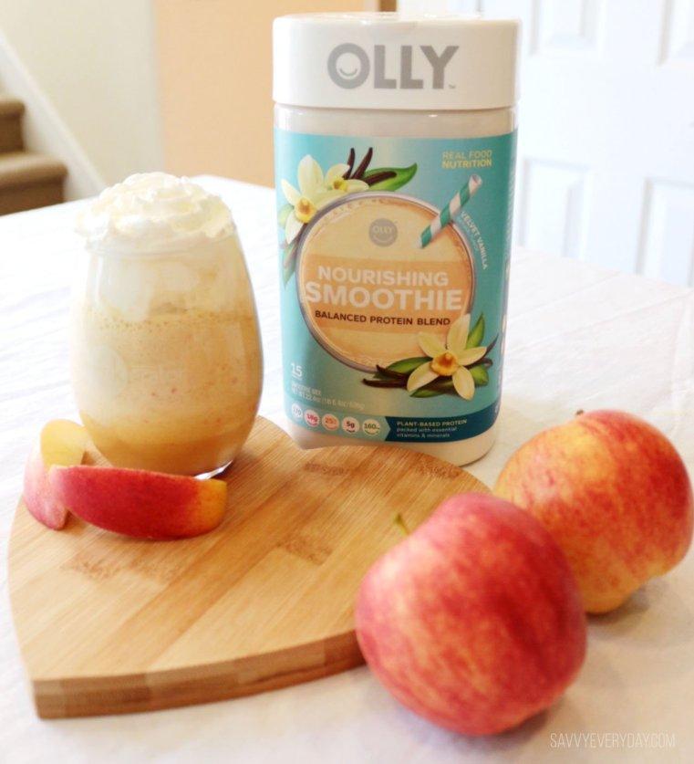 FInished Carmel Apple Smoothie drink