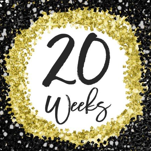 20 weeks preggo bump photo card