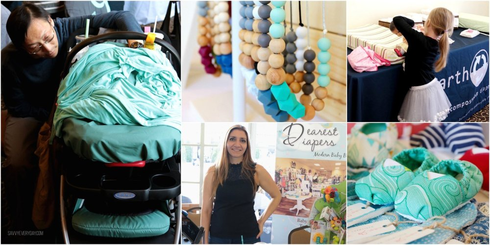 collage of baby fair items