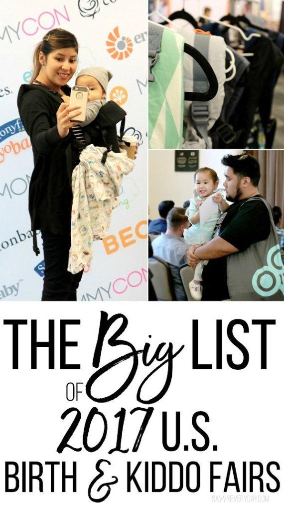 The Big List of 2017 U.S. Birth and Baby Fairs.