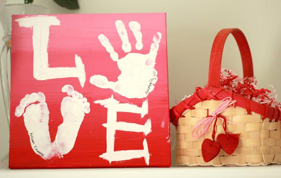 handprint valentine art