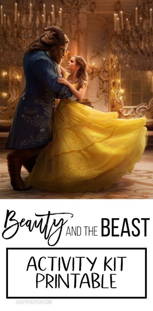 Beauty and the Beast Activity Kid Printable