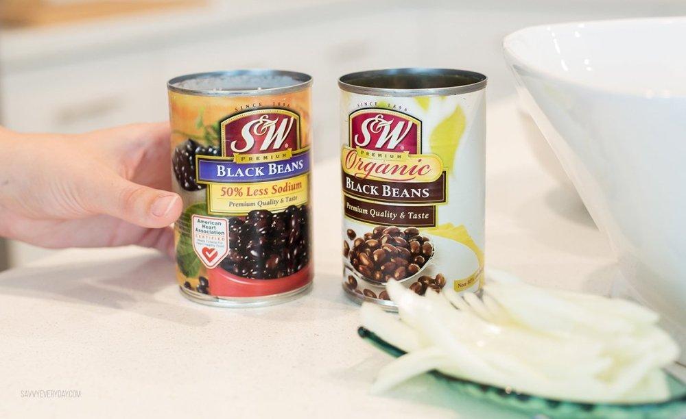 S & W Bean cans