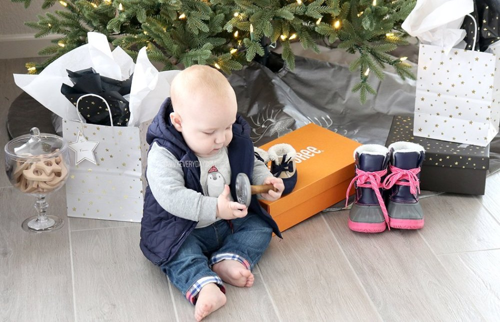 baby and presents