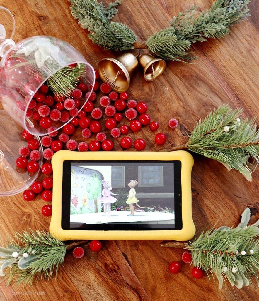 Amazon Fire HD 8 Kids Tablet holiday flatlay