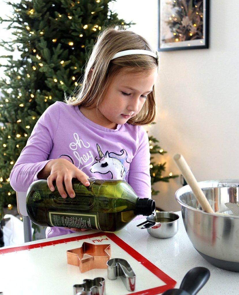 pouring avocado oil