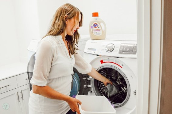 cloth diapering and the wash