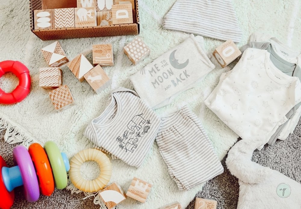 baby clothes and toys
