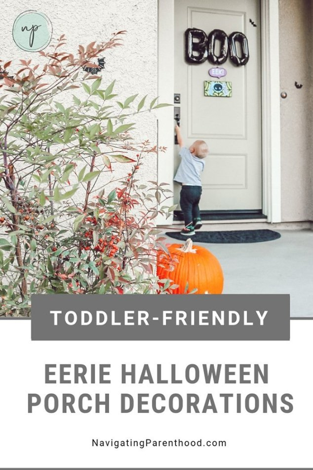 Toddler-Friendly Eerie Halloween Porch Decorations