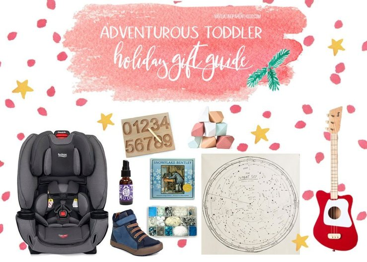 collage image of toddler holiday gift guide items