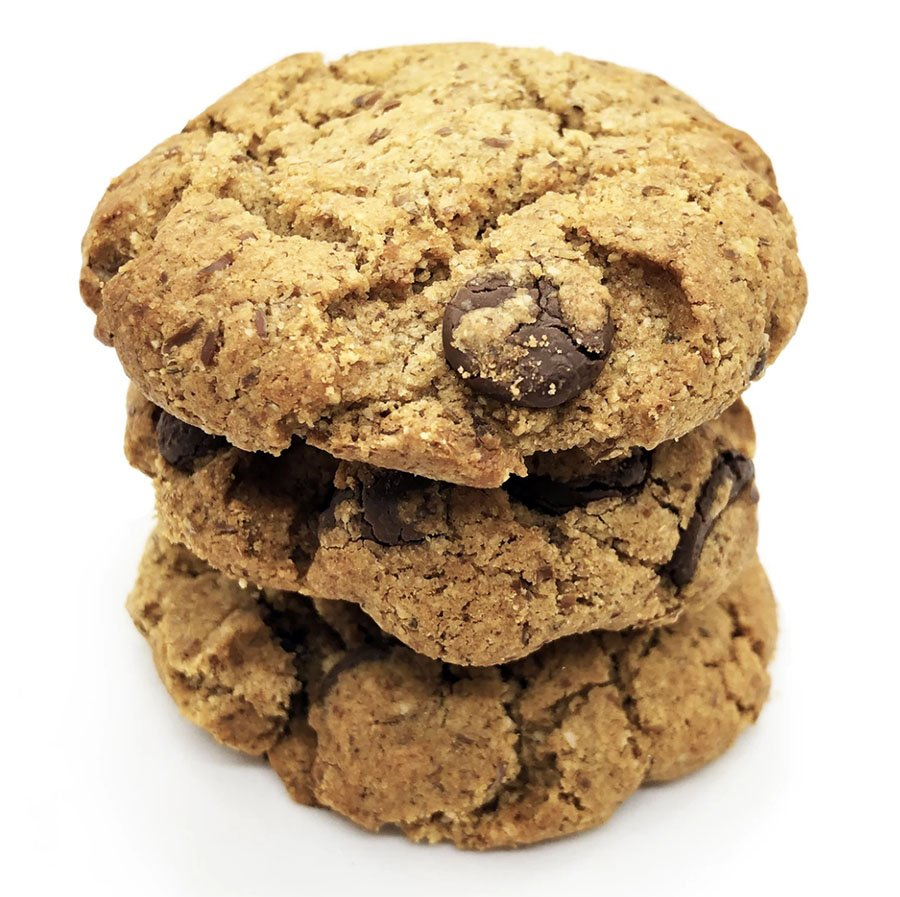 A stack of lactation cookies