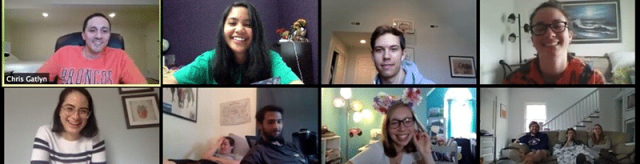 Calling Students to Faith over Fear Navigators Collegiate, University of Virginia – Chris and Jana Gatlyn | Students gathering together on a video call