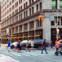 God Opens a Community for Disciplemaking | The Navigators Workplace Ministry | New York City street scene with crowds of people walking through the busy intersection of 23rd and 5th Avenue in Midtown Manhattan