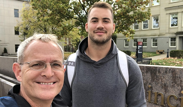 Faith and Football: Transformed Lives in College and Beyond  | The Navigators Collegiate Ministry | Left to right - Evan Griffin and Bruno