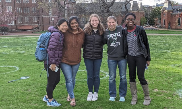 From One Student to Another: Spreading Gospel Impact | The Navigators Collegiate Ministry | Jasmine, Zara, Shelby, Mikayla & Elicia (left to right) are spreading the gospel and making disciples at Vanderbilt.