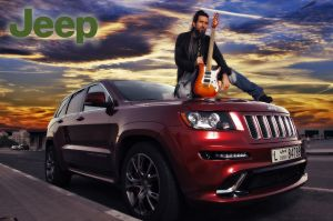 Jeep bumblefoot guitar vehicle