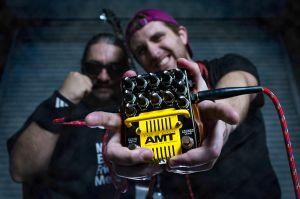 Musicians rock pedal music