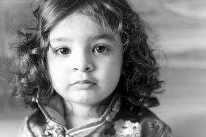 Portrait girl blackandwhite