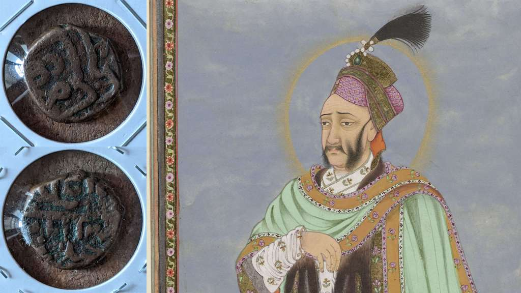 Abdullah Qutb Shah and a coin minted during his reign