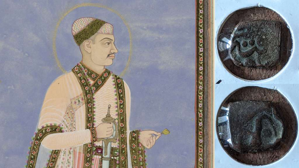 Mohamed Quli Qutb Shah and a coin minted during his reign