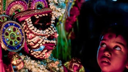Kali in a mudiyettu performance