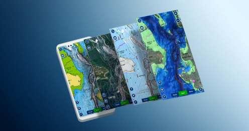 SonarChart -Schattierung und mehr Karten-Overlay-Kombinationen in der Navionics Boating-App