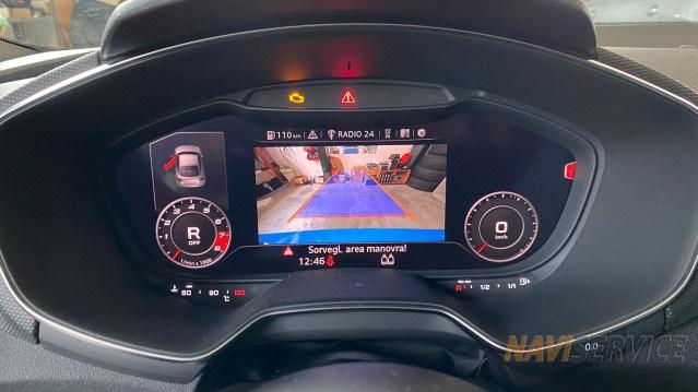 visualizzazione camera retromarcia audi TT