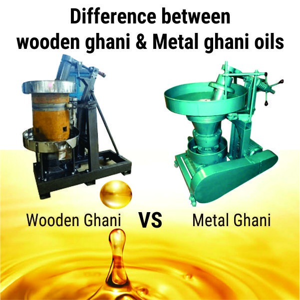 Difference between wooden ghani & Metal ghani oils