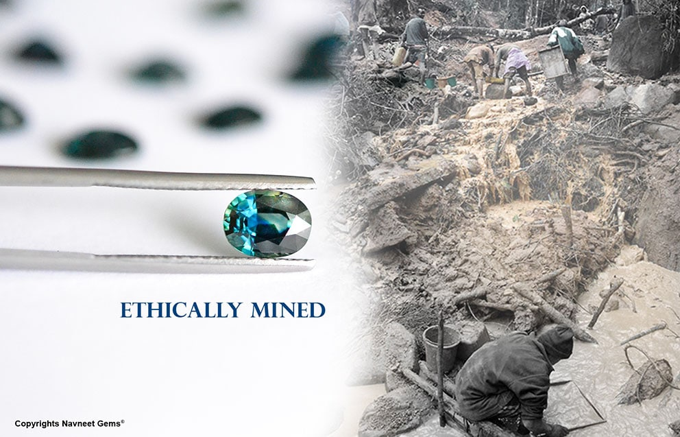Ethically mined Mermaid sapphires