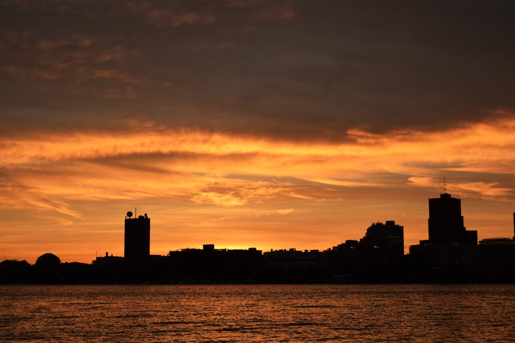 """Sunset in Boston"". © Navroop Sahdev. All rights reserved."