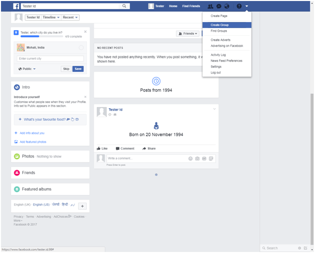 Create Facebook Group