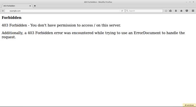 forbiddon error 403