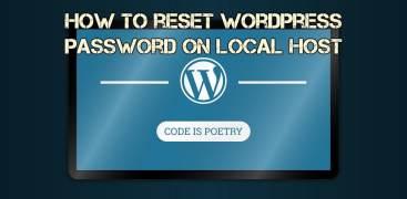 How to reset WordPress password on local host