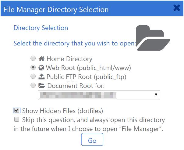 .maintenance File in cPane