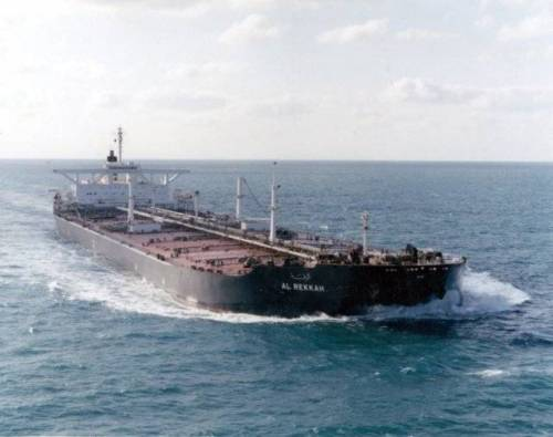 The Kuwaiti tanker Al Rekkah was renamed the USS Bridgeton and reflagged as a U.S. ship. (U.S. Navy photo)