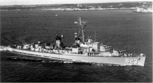 USS Samuel B. Roberts (DD-823) in 1959. (U.S. Navy photo)