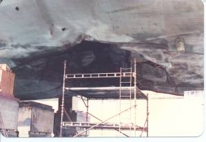 Hole in the hull, visible in Dubai drydock