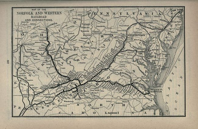 Norfolk & Western Railway, 1893 (Wikipedia)