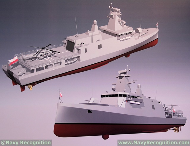 At MSPO 2015, the International Defence Industry Exhibition in Poland which took place in Kielce from the 1 to 4 September 2015, German naval vessels designer ThyssenKrupp Marine Systems (TKMS) unveiled a new variant of the MEKO A-100 PL with a unique