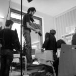 نەوا موکرجی لە کاتی فیلمسازیدا. 2016
