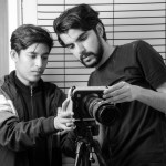 نەوا موکرجی و سوڵتان یوسف لە کاتی فیلمسازیدا. 2016